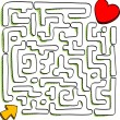 Maze of love — Stock Vector