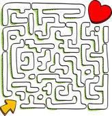 Maze of love — Stock Vector