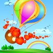 Royalty-Free Stock Vector Image: Balloon with hearts