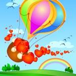 Balloon with hearts — Stock Vector