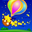 Stock Vector: Balloon with stars