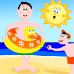Beach games! — Stock Vector