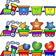 Nice trains - Stock Vector