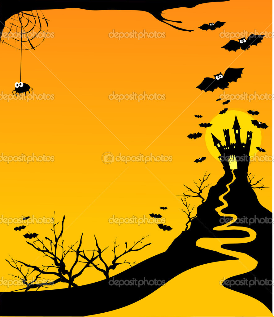 Halloween customizable horizontal background, vector  — Stock Vector #5910020