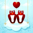 Royalty-Free Stock Vector Image: Owls in love