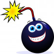 Funny bomb - Stock Vector