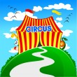 Funny circus - Stock Vector