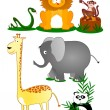 Set wildlife — Stock Vector #6210841