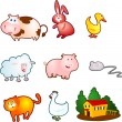 Funny farm animals — Stock Vector #6210845