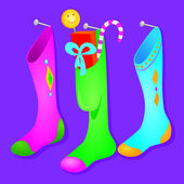 Stockings hung — Stock Vector