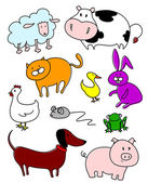 Funny farm animals — Stock Vector