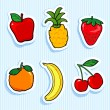 Stock Vector: Fruit stickers