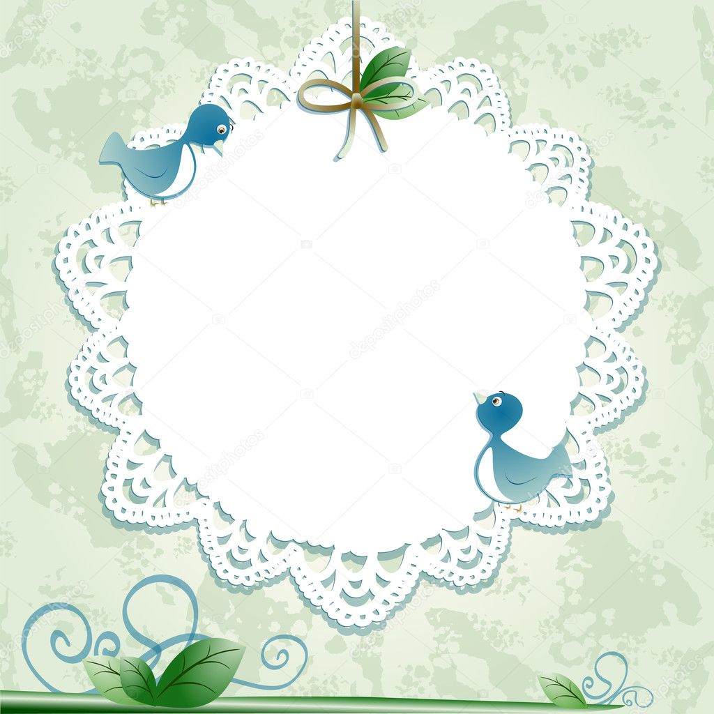 Vintage background with birds. Vector image  Stock Vector #6586368