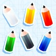 Pencil stickers — Stock Vector