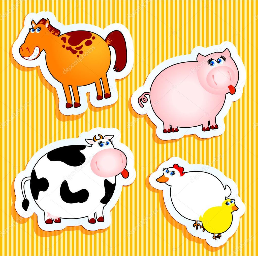 Farm Animal Stickers – Jerusalem House