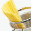 Spaghetti in pot — Stock Photo
