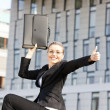 Businesswoman with a briefcase — Stock Photo