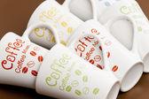 Natürmort boş kahve kupaları — Stok fotoğraf