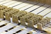 Close up of textile machine — Stock Photo