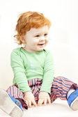 Sitting little boy — Stock Photo