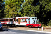 Narrow gauge railway, St-Troyan-Les-Bains, France — Stock Photo