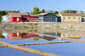 Solución salina, puerto des salines, isla de olerón, poitou-charentes, franco — Foto de Stock