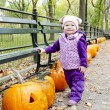 Little girl in autumnal Central Park, New York City, USA — Stock Photo #5917290