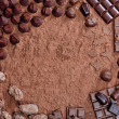 Stock Photo: Still life of chocolate in cocoa