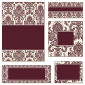 Vector Victorian Frame Set. — Stock Vector