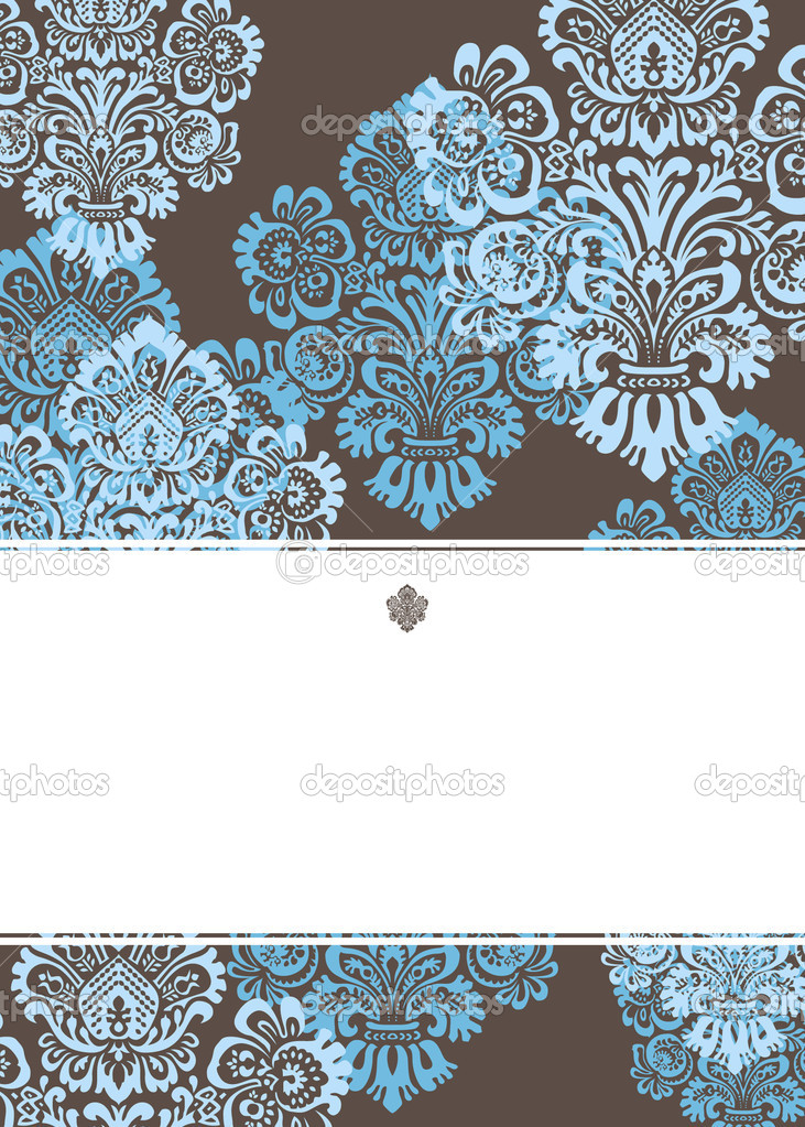 Vector Victorian Background and Frame. Easy to edit. Perfect for invitations or announcements. — Stock Vector #5600914