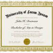 Vector Ornate Diploma with Border — Imagen vectorial