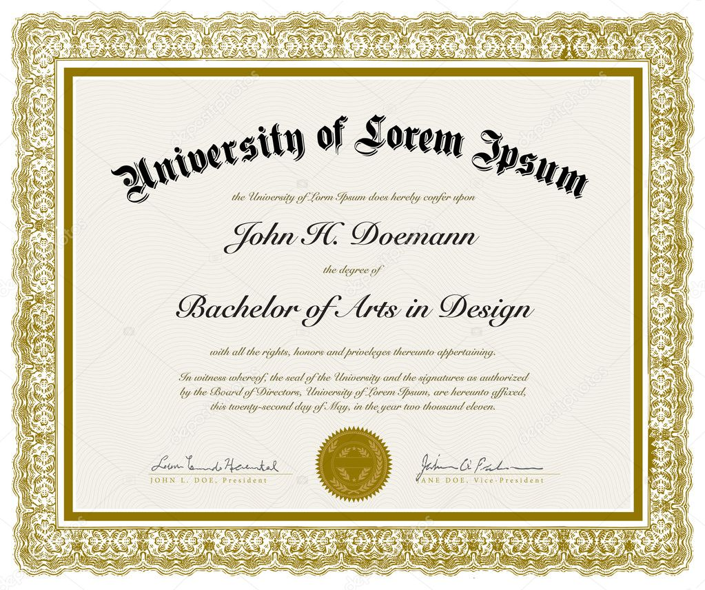 Vector Ornate Diploma with Border. Easy to edit. Perfect for diplomas or other ornate designs — Stock Vector #5864153
