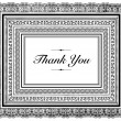 Vector Layered Thank You Frame — Stock Vector