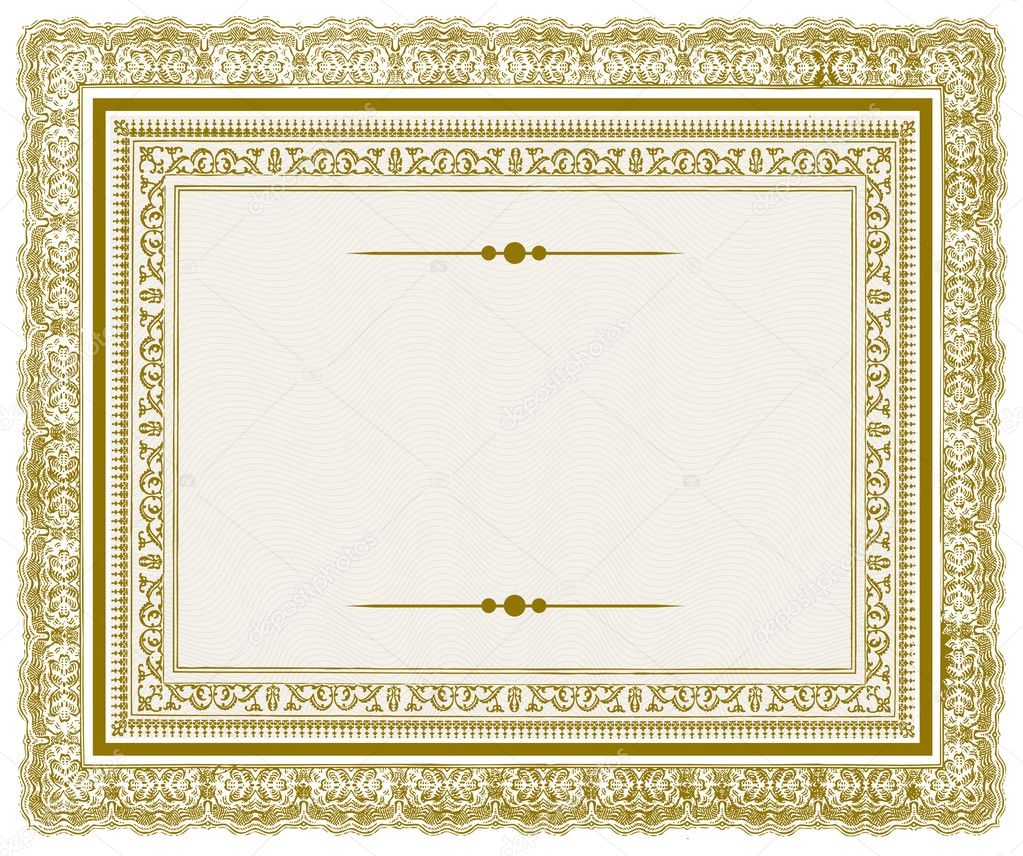Vector Gold Ornate Frame - Stock IllustrationOrnate Gold Frame Vector