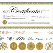 Vector Premium Certificate Template and Ornaments - Stock Vector