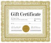 Vector Ornate Certificate Frame — Stock Vector