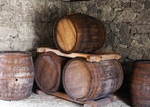 Dřevěné sudy — Stock fotografie