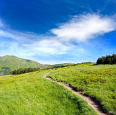 Pathway in mountains — Stock Photo