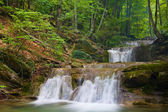 Nice waterfall in green forest — Stock Photo