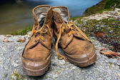 Old tourists boots — Foto Stock