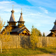 Wooden monastery — Stock Photo