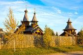 деревянный монастырь — Стоковое фото