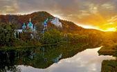 Mosteiro no pôr do sol — Foto Stock
