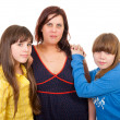 Mother and her daughters portrait — Stock Photo #5417397