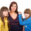 Stock Photo: Mother and her daughters portrait