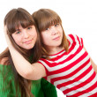 Portrait of two lovely sisters — Stock Photo