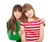 两个可爱的姐妹们的肖像 — 图库照片