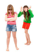 Girl conflict — Stock Photo