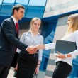 Business shaking hands — Stock Photo #5635726