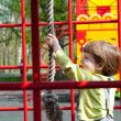 Boy having fun in playground — Stock Photo
